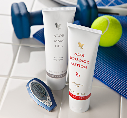 Forever Aloe MSM Gel und Massage Lotion - yourbodybase